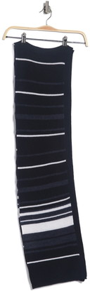 Theory Fabion Stripe Print Knit Cashmere Scarf