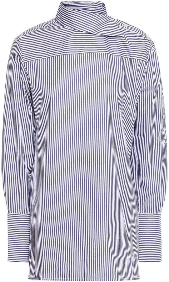 Victoria Victoria Beckham Striped Cotton-oxford Shirt