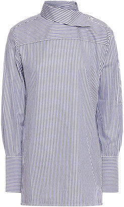 Victoria Victoria Beckham Striped Cotton-oxford Shirt