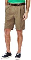 Haggar Big & Tall Cool 18® Pleated Microfiber Shorts