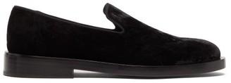 Jil Sander Velvet Loafers - Mens - Black