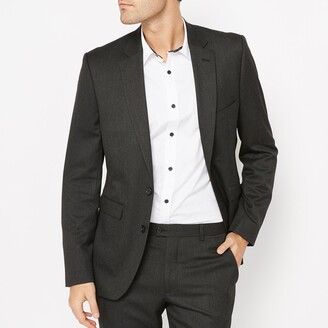 La Redoute Collections Fitted Single-Breasted Suit Jacket with Pockets