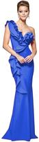 Tarik Ediz Lavish One Shoulder Ruffle Evening Gown 93110