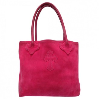 Chrome Hearts Pink Suede Handbags