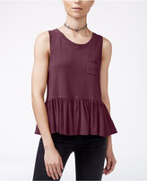 Free People Continental Sleeveless Peplum Top