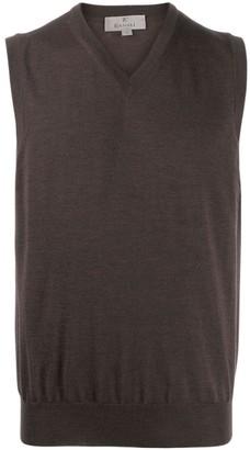 Canali V-Neck Knitted Vest