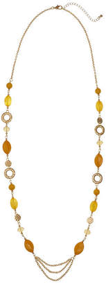 MIXIT Mixit Mustard 36 Inch Cable Beaded Necklace