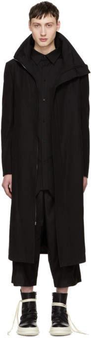 D.gnak By Kang.d Black High Collar Coat