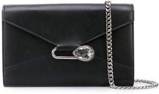 Alexander McQueen crystal safety pin shoulder bag