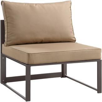 Modway Fortuna Armless Outdoor Patio Aluminum Sectional Sofa