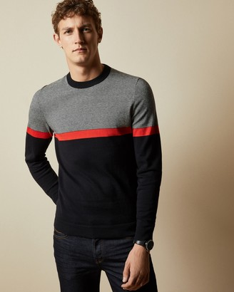 Ted Baker PUSHIT Striped crew neck jumper
