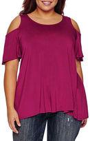 Boutique + Boutique+ Elbow-Sleeve Knit Blouse - Plus