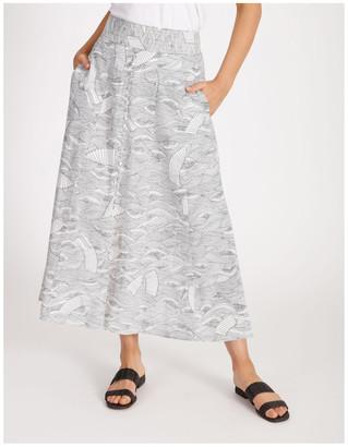 Piper Button Front Linen Skirt