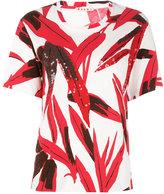 Marni leaf print T-shirt - women - Cotton - 40