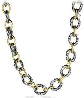 David Yurman Oval Extra-Large Link Necklace with Gold