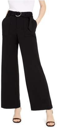 INC International Concepts Inc Petite Belted Wide-Leg Pants