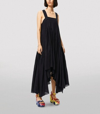Loewe X Paula'S Ibiza Gathered Asymmetric Dress