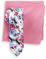 Original Penguin Cove Floral Slim Tie & Pocket Square Set