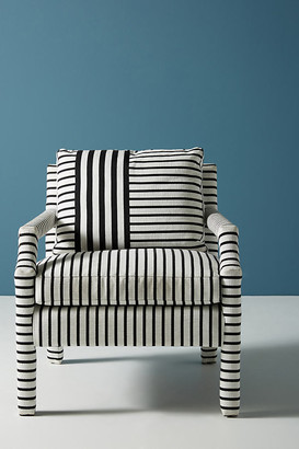 Anthropologie Banded Stripe Delaney Chair By in Black