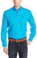 Cinch Men's Classic Fit Long Sleeve Button Down One Open Pocket Solid Shirt