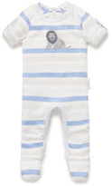 Purebaby Roll Slv Lion Growsuit