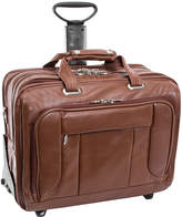 McKlein McKleinUSA West Town 15.6 Leather Fly-Through Checkpoint-Friendly Detachable -Wheeled Laptop Briefcase