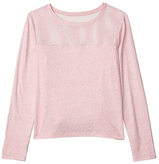 Lorna Jane Cover-Up Cropped Long Sleeve Top (Dusty Rose) Women's Clothing