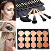 Mefeir 15 Colors Concealer Camouflage Makeup Palette Contour Face Contouring Kit + 24 Pcs Makeup Brush by Mefeir