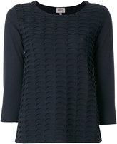 Armani Collezioni wave effect jumper - women - Polyamide/Polyester/Wool - 40