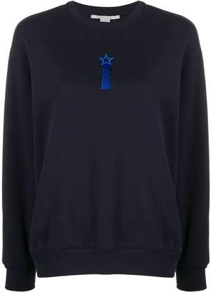 Stella McCartney tasselled embroidered star sweatshirt