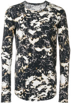 Balmain long-sleeved printed top