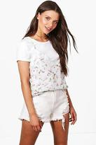 boohoo NEW Womens Emilia Woven Cami 2 In 1 Top in