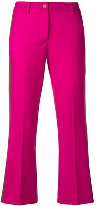 P.A.R.O.S.H. cropped side stripe trousers