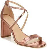 Via Spiga Strappy Metallic Leather Sandals - Sabinne