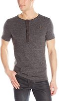 G Star Men's Matmini Granddad Crew Neck Cotton Short Sleeve