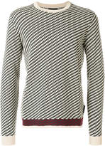 Emporio Armani geometric patterned sweater