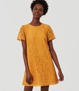 LOFT Tall Flutter Lace Dress