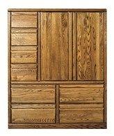 Bullnose Eight Drawer Armoire Chestnut Oak