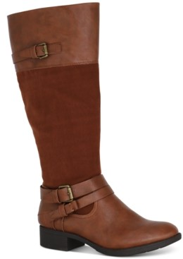 Style&Co. Style & Co Ashliie Wide-Calf Riding Boots, Created for Macy's Women's Shoes