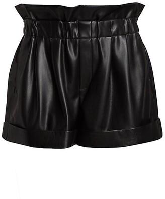 Reagan Vegan Leather Paperbag Shorts