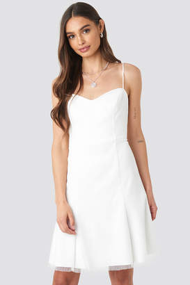 Trendyol Strap Tulle Detailed Dress White