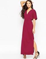 Asos Crepe Kimono Maxi Dress