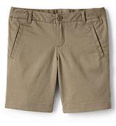 Classic Little Girls Stretch Chino Bermuda Shorts-Khaki