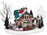 D56 Department 56 Christmas Lane Series Animated Snow Village, Santa's Wonderland House