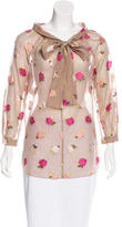 Moschino Cheap & Chic Moschino Cheap and Chic Embroidered Floral Top