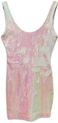 Filles a papa White Glitter Dress for Women