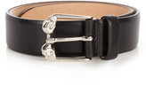 Alexander McQueen Twin-skull leather belt