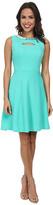 Christin Michaels Textured Knit Keyhole Dress