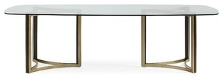 """Caracole Modern 48"""" Double Pesestal Dining Table"""