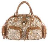 Blumarine Sequined Handle Bag